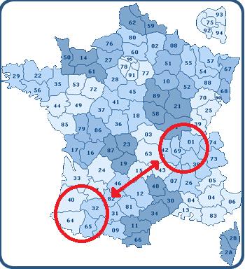liaison quotidienne depuis Rhône Alpes vers le sud Ouest de la France